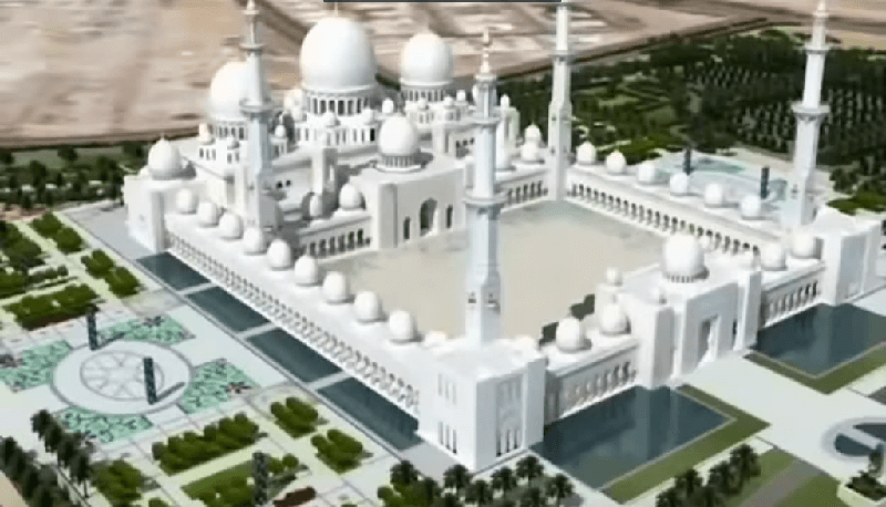 Initial Sheikh Zayed Mosque 3D View