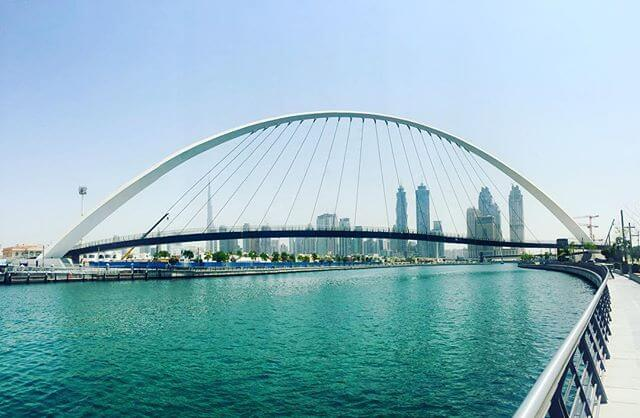 Dubai Water Canal Day View