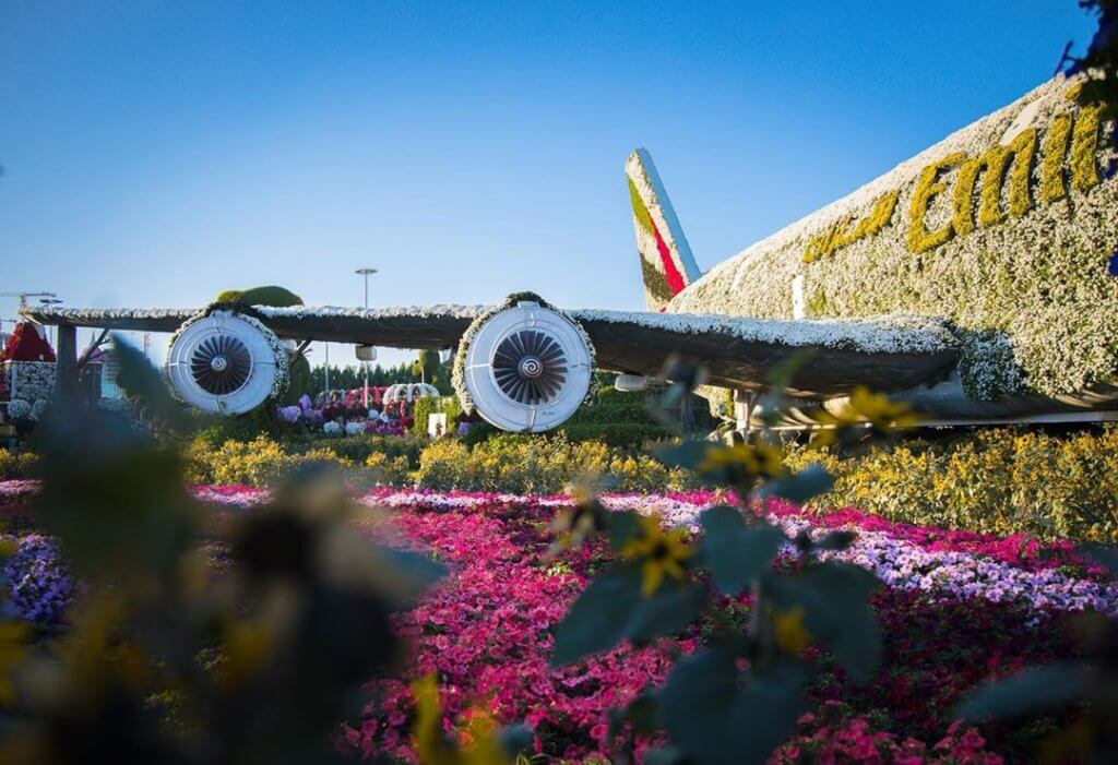 Airbus 380 in Dubai Miracle Garden