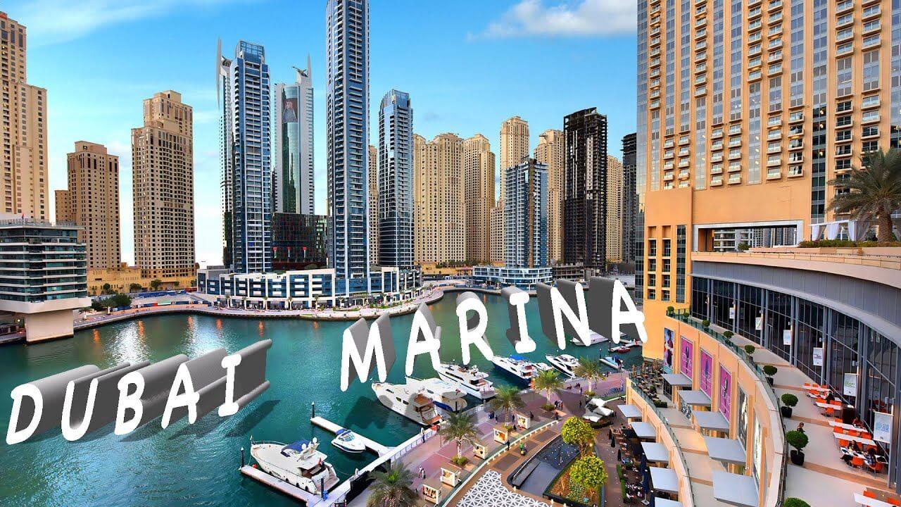 The dubai marina walk